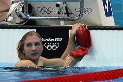 Rebecca Adlington of Great Britain during the Women's 400m Freestyle qualifying heat at The Aquatics Centre in Olympic Park in London as part of the London 2012 Olympics on the 27st July 2012.Photo by Ron Gaunt/SPORTZPICS