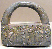 Object made from chlorite schist. Possibly used as a paperweight. Iranian, Persian 3rd millennium BC