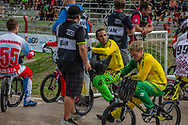 #7 (WILLOUGHBY Sam) AUS and #44 (DEAN Anthony) AUS at the 2016 UCI BMX Supercross World Cup in Santiago del Estero, Argentina