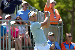 March 23, 2019 - Palm Harbor, FL, U.S. - PALM HARBOR, FL - MARCH 23: Luke Donald tees off during the third round of the Valspar Championship on March 23, 2019, at Westin Innisbrook-Copperhead Course in Palm Harbor, FL. (Photo by Cliff Welch/Icon Sportswire) (Credit Image: © Cliff Welch/Icon SMI via ZUMA Press)