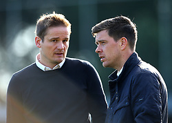 AFC Wimbledon manager Neal Ardley and Bristol Rovers manager Darrell Clarke talk - Mandatory by-line: Robbie Stephenson/JMP - 17/02/2018 - FOOTBALL - Cherry Red Records Stadium - Kingston upon Thames, England - AFC Wimbledon v Bristol Rovers - Sky Bet League One