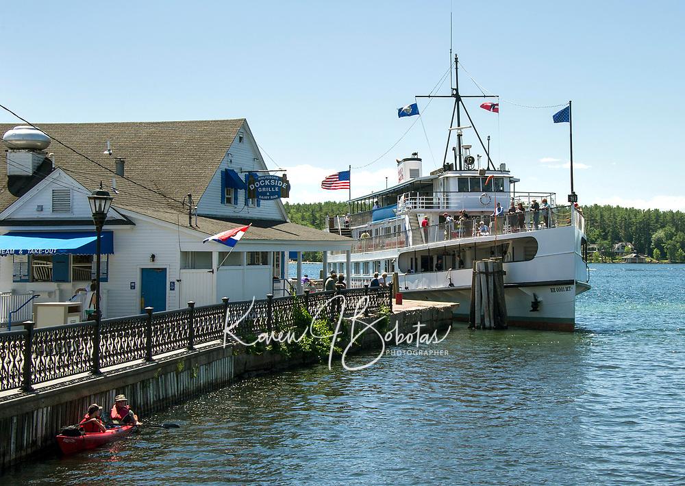 Wolfeboro features - MS Mt Washington at the town dock.  ©2016 Karen Bobotas Photographer
