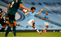 Football - 2019 / 2020 Premier League - Manchester City vs. Burnley<br /> <br /> Leroy Sane of Manchester City at the Etihad Stadium. <br /> <br /> <br /> COLORSPORT/LYNNE CAMERON