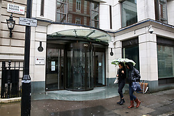 © Licensed to London News Pictures. 04/03/2020. London, UK. Exterior view of Sony Pictures Entertainment.<br /> Sony Pictures Entertainment has closed its office in Soho amid fears of the spread of Coronavirus. The company doesn't have any confirmed cases and have taken a decision to close offices across Europe, including the London office, as a precaution. Thirty four new cases of Coronavirus have been confirmed in the UK, taking the total number to eighty five. Photo credit: Dinendra Haria/LNP