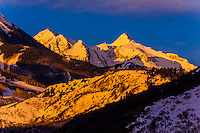 Aspen/Snowmass ski resort at sunrise, Colorado USA.