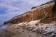 AE2KR1 Cliffs of striped sedimentary rock at Hunstanton Norfolk England