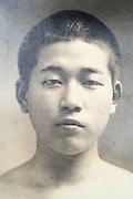 portrait of a young boy Japan