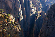 View from Exclamation Point, Black Canyon of the Gunnison National Park, North Rim, Colorado.