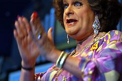 Oct. 6, 2006 - U.S. - Pieter-Dirk Uys, South Africa's best-known political satirist, performs as the character Evita Bezuidenhout at his theater in Darling, South Africa. (Karin Retief/Chicago Tribune/TNS) (Credit Image: © Karin Retief/TNS/ZUMAPRESS.com)