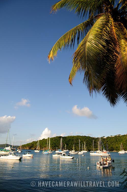 Cruz Bay Harbor on St. John in the US Virgin Islands