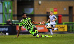 Jamille Matt of Forest Green Rovers tries to control the ball- Mandatory by-line: Nizaam Jones/JMP - 16/01/2021 - FOOTBALL - innocent New Lawn Stadium - Nailsworth, England - Forest Green Rovers v Port Vale - Sky Bet League Two