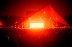 Stock photo of Hermann Park's Miller Outdoor Theater in downtown Houston Texas