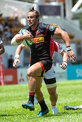 May 19, 2018 - Hong Kong, Hong Kong, China - Outside centre Johannes Engelbrecht (13) of the Stormers scores the first match tryJapanese team Sunwolves win 26-23 over South Africa's Stormers in Rugby Super League's Hong Kong debut. Mong Kok Stadium, Hong Kong . Photo Jayne Russell (Credit Image: © Jayne Russell via ZUMA Wire)
