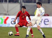 Fotball<br /> Portugal v Hellas<br /> Foto: DPPI/Digitalsport<br /> NORWAY ONLY<br /> <br /> FOOTBALL - FRIENDLY GAMES 2007/2008 - 26/03/2008 - PORTUGAL v GREECE - PAULO FERREIRA (POR) / GEORGIOS SEITARIDIS (GRE)