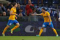 "Esultanza dopo il gol di Carlos Tevez Juventus, Goal Celebration,<br /> Genova 24/8/2013<br /> Stadio ""Luigi Ferraris"" <br /> Football Calcio 2013/2014 Serie A <br /> Sampdoria - Juventus <br /> Foto Marco Bertorello Insidefoto"