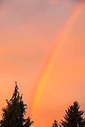 USA, Oregon, Keizer, sunrise skyscape.