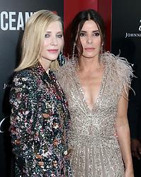 'Ocean's 8' World Premiere. 05 Jun 2018 Pictured: Cate Blanchett & Sandra Bullock. Photo credit: Steven Bergman/AFF-USA.COM / MEGA TheMegaAgency.com +1 888 505 6342