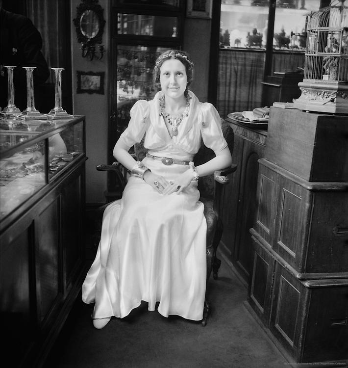 Customer in Edward Good's Shop at 1, New Oxford St, London, 1937