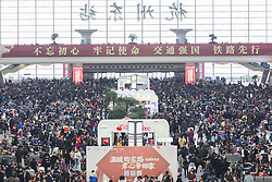 February 4, 2018 - Hangzhou, Hangzhou, China - Hangzhou,CHINA-4th February 2018: Numerous passengers can be seen at Hangzhou East Railway Station during the annual Spring Festival Travel Rush in Hangzhou,east China's Zhejiang Province. (Credit Image: © SIPA Asia via ZUMA Wire)