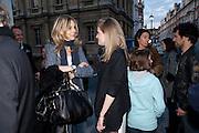 KIM HERSOV; POLLY MORGAN, Polly Morgan book launch. Still Birth published by Other Criteria. London. 8 April 2010