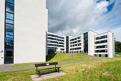 Modern student halls of residence at Stirling University in Scotland , united Kingdom