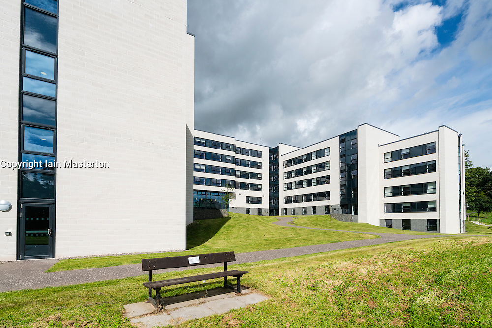 Modern student halls of residence at Stirling University in Scotland , united Kingdom