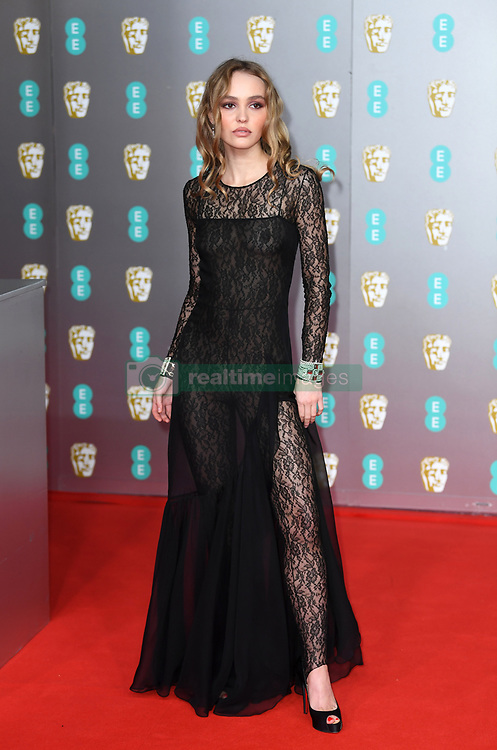 Lily-Rose Depp attending the 73rd British Academy Film Awards held at the Royal Albert Hall, London. Photo credit should read: Doug Peters/EMPICS Entertainment