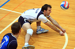 Tomaz Paravan at finals of Slovenian volleyball cup between OK ACH Volley and OK Salonit Anhovo Kanal, on December 27, 2008, in Nova Gorica, Slovenia. ACH Volley won 3:2.(Photo by Vid Ponikvar / SportIda).