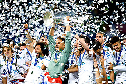 Real Madrid lift the UEFA Champions League Trophy after defeating Liverpool - Mandatory by-line: Robbie Stephenson/JMP - 26/05/2018 - FOOTBALL - Olympic Stadium - Kiev,  - Real Madrid v Liverpool - UEFA Champions League Final