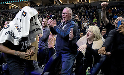 October 31, 2018 - Minneapolis, MN, USA - The Minnesota Timberwolves' Derrick Rose is applauded as he leaves the court after he scored a career-high 50 points against the Utah Jazz at the Target Center in Minneapolis on Wednesday, Oct. 31, 2018. The Timberwolves won, 128-125. (Credit Image: © Carlos Gonzalez/Minneapolis Star Tribune/TNS via ZUMA Wire)