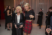 JUDY FINNIGAN; CHLOE MADDELEY, Pre -drinks at the St. Martin's Lane Hotel before a performance of the English National Ballet's Nutcracker: London Coliseum.12 December 2013