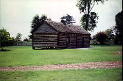 2001 September:  Slave Cabin on the grounds of Andrew Jackson's Hermitage...This image was scanned from a print.  Image quality may vary.  Dust and other unwanted artifacts may exist.