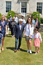 Bernie Ecclestone and his wife at the Cartier Style et Luxe at the Goodwood Festival of Speed, Goodwood, West Sussex, England. 2 July 2017.<br /> Photo by Dominic O'Neill/SilverHub 0203 174 1069 sales@silverhubmedia.com