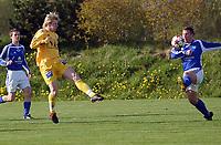 NM fotball 2. runde 18.05.05 Ranheim - Bodø/Glimt 1-4<br /> Stig Arild Råket setter inn 0-1<br /> Foto: Carl-Erik Eriksson, Digitalsport