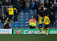 Oxford United's Marcus Browne (left) celebrates scoring his side's second goal <br /> <br /> Photographer David Horton/CameraSport<br /> <br /> The EFL Sky Bet League One - Oxford United v Blackpool - Saturday 1st February 2020 - Kassam Stadium - Oxford<br /> <br /> World Copyright © 2020 CameraSport. All rights reserved. 43 Linden Ave. Countesthorpe. Leicester. England. LE8 5PG - Tel: +44 (0) 116 277 4147 - admin@camerasport.com - www.camerasport.com