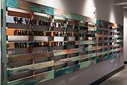 A palette art installation inside Hotel Indigo along East Washington Avenue in Madison, WI on Wednesday, April 17, 2019.