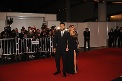 June 30, 2017 - Buenos Aires, Buenos Aires, Argentina - Soccer player Sergio Kun Aguero and his wife Karina ''La Princesita'' pose at the red carpet prior to Lionel Messi and long time sweetheart Antonella Roccuzzo's wedding party.The ceremony and party had over 250 guests that included his fellow Barcelona F.C. players, pop star Shakira, family and childhood friends. (Credit Image: © Patricio Murphy via ZUMA Wire)