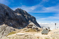 The Triglav Lodge at Kredarica, on September 11, 2020 in Julian Alps, Slovenia. Photo by Matic Klansek Velej / Sportida