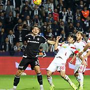 Besiktas's Mario Gomez (L) during their Turkish Super League soccer match Besiktas between Medicana Sivasspor at the Basaksehir Fatih Terim arena in Istanbul Turkey on Sunday, 22 November 2015. Photo by Kurtulus YILMAZ/TURKPIX