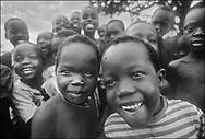 Sudanese children in a refugee camp - West  Nile, Moyo District, Uganda.