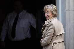 © Licensed to London News Pictures. 11/02/2020. London, UK. Secretary of State for Business, Energy and Industrial Strategy Andrea Leadsom arriving in Downing Street to attend a Cabinet meeting this morning. An announcement on the high speed rail line 'HS2' is expected today.  Photo credit : Tom Nicholson/LNP