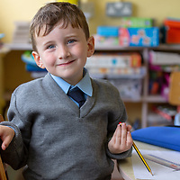Jamsie McMahon on his First day at Cooraclare National School