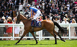 Gossamer Wings ridden by Jockey Aiden O'Brien goes to post for the Queen Mary Stakes