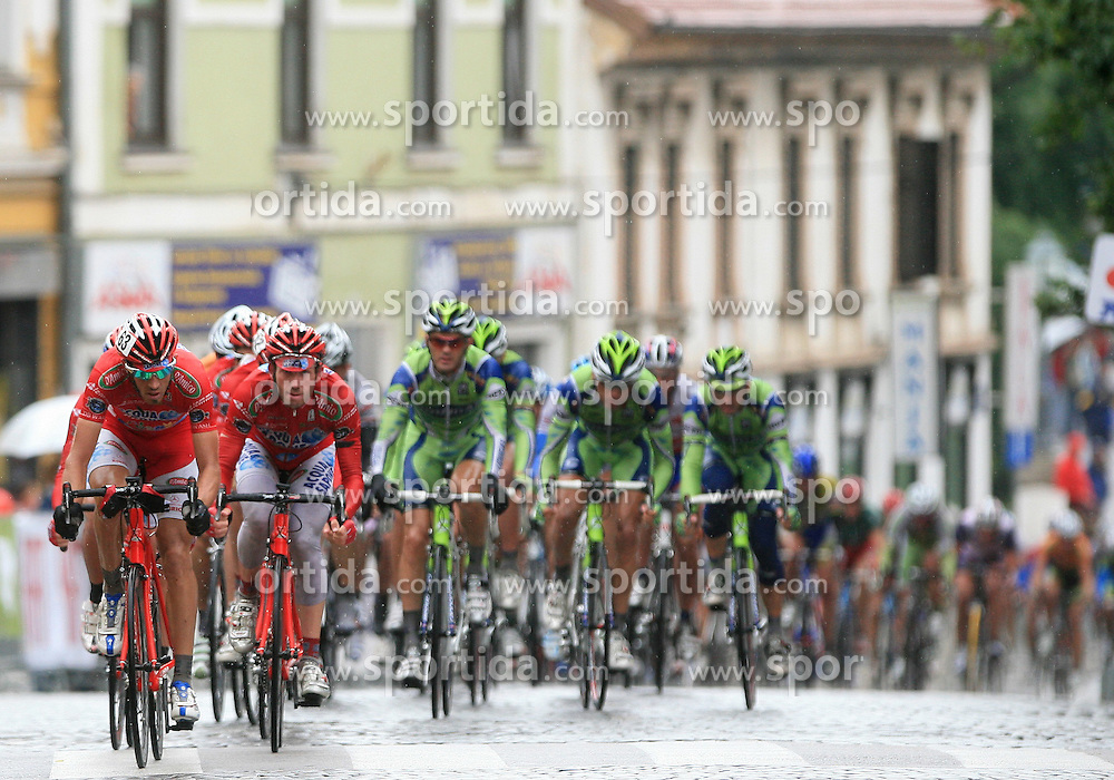 Alessandro Donati of Italia (Acqua Sapone - Caffe Mokambo) preperaing everything for sprint of Gabriele Balducci of Italia (Acqua Sapone - Caffe Mokambo) in last circle in last 4th stage of the 15th Tour de Slovenie from Celje to Novo mesto (157 km), on June 14,2008, Slovenia. (Photo by Vid Ponikvar / Sportal Images)/ Sportida)
