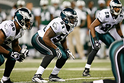 Philadelphia Eagles linebacker Joe Mays #51 during the NFL game between the Philadelphia Eagles and the New York Jets on September 3rd 2009. The Jets won 38-27 at Giants Stadium in East Rutherford, NJ.  (Photo By Brian Garfinkel)