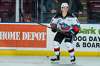 KELOWNA, BC - FEBRUARY 7: Pavel Novak #11 of the Kelowna Rockets warms up on the ice against the Portland Winterhawks at Prospera Place on February 7, 2020 in Kelowna, Canada. (Photo by Marissa Baecker/Shoot the Breeze)
