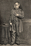 John Bright (1811-1889) English radical statesman, born in Rochdale, Lancashire. Anti-Corn Law League. Reform Act 1867.  Engraving from 'The Century Magazine' (New York, 1884).