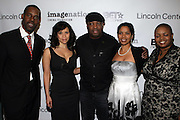 l to r: Greg Gates, Rosie Perez, Chuck D, Mrs. D and Moikgantsi Kgama at The ImageNation celebration for the 20th Anniversary of ' Do the Right Thing' held Lincoln Center Walter Reade Theater on February 26, 2009 in New York City. ..Founded in 1997 by Moikgantsi Kgama, who shares executive duties with her husband, Event Producer Gregory Gates, ImageNation distinguishes itself by screening works that highlight and empower people from the African Diaspora.