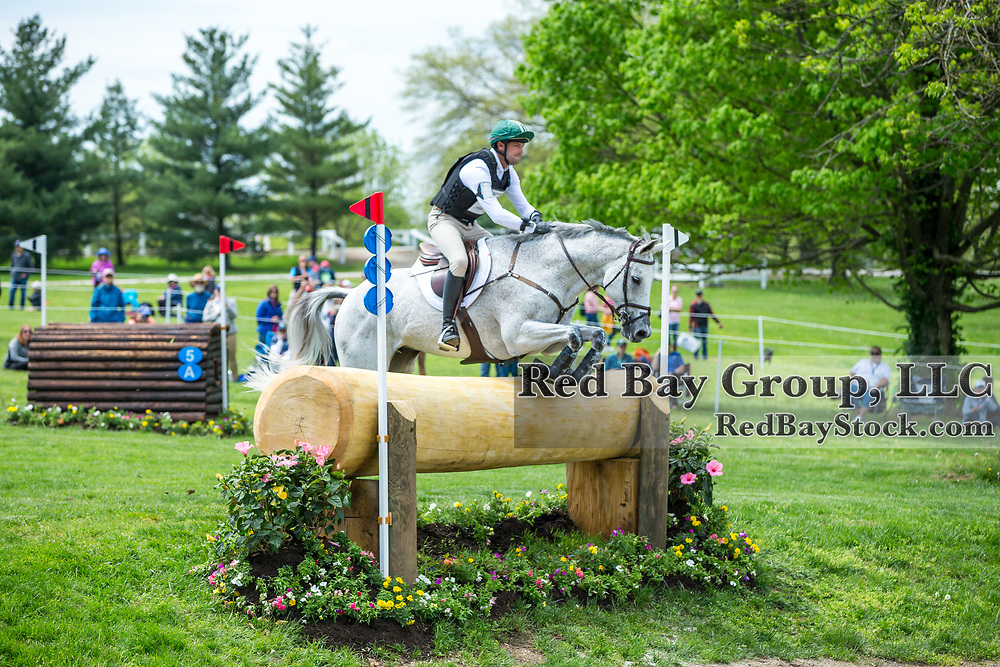 William Coleman (USA) and Tight Lines during the cross-country at the 2019 Land Rover Kentucky Three-Day Event presented by MARS EQUESTRIAN in Lexington, Kentucky