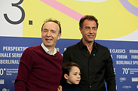 Actors Federico Ielapi,  Roberto Benigni, and director Matteo Garrone at the photocall for the film Pinocchio at the 70th Berlinale International Film Festival, on Sunday 23rd February 2020, Hotel Grand Hyatt, Berlin, Germany. Photo credit: Doreen Kennedy